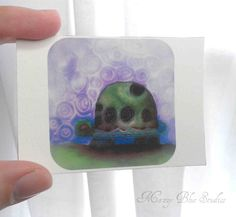 Turtle & Sky Aceo Artist Trading Card   by MazzyBlueStudios, $5.00