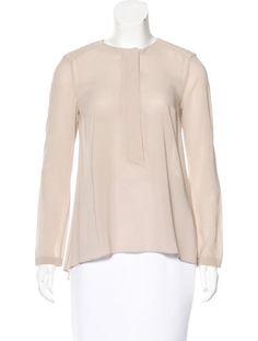 Monili-Embellished Silk Top