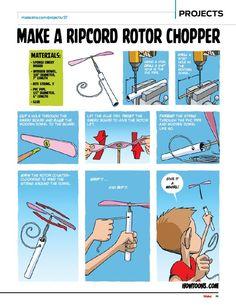Howtoons: Ripcord Rotor Chopper | Make: