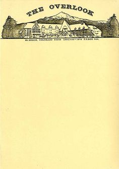 Letterhead of the fictional Overlook Hotel, as used during production of The Shining.