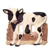 Check out the Vicki Lane Designs Country Cow Black and White Double Switch Plate Cow Kitchen Decor, Turquoise Kitchen Decor, Cow Decor, Kitchen Decor Themes, Kitchen Ideas, Pune, Yellow Country Kitchens, Cow Ornaments, White Cow
