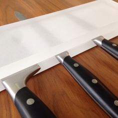 Another sharp idea from Fossil Faux Studios comes to the kitchen- a translucent resin knife holder!