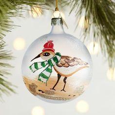 European Glass Sandpiper Ornament