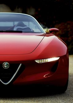 You always think of Alfa Romeo cars in red and would be a perfect choice. Lamborghini Aventador, Audi R8, Ferrari, Luxury Sports Cars, Sexy Cars, Hot Cars, Maserati, Alfa Romeo Gt, Supercars