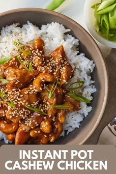Made with pantry staples, this Instant Pot Cashew Chicken comes together quickly and easily! Just as delicious as take-out, this homemade cashew chicken is so flavorful and cooked faster than heading out to the restaurant.