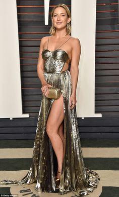 Kate Hudson robe métallique oscar 2016 fendue