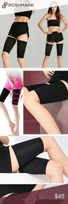 "(2) Thigh Shapers-Slim and Tone your thighs Women Beauty Slim Weight Loss Thigh leg Massage Shaper Comfy Ultra-thin Elastic Breatheable Leg Wrap Belt,Thigh Slimming Compression Socks,Burn Fat Thin Leg Socks   Material: Nylon 78% Spandex 22% Style: thigh slimming Color:as picture show Suitable for thighs 40-58cm (16""-23"") Fit snugly to trim appearance of thigh area instantly Accessories"