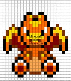 Minecraft Pixel Art Templates: Charizard