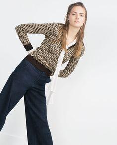 Zara #sueter #geometricos #tricot #FocusTextil