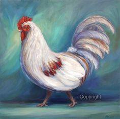 Coq Decor Art Print sur toile ou papier de par FerraroFineArt