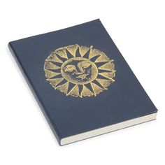 Cosmic blue leather notebook