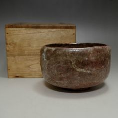 Vintage Japanese Signed Ohi Pottery Tea Bowl #1909 - CHANOYU