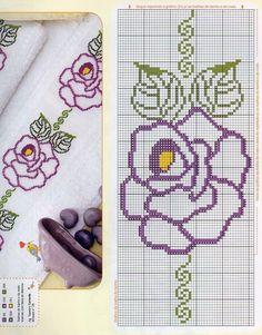 Sunshine Home Decor Cross Stitch Bookmarks, Cross Stitch Rose, Cross Stitch Borders, Cross Stitch Flowers, Cross Stitch Designs, Cross Stitching, Cross Stitch Embroidery, Hand Embroidery, Cross Stitch Patterns
