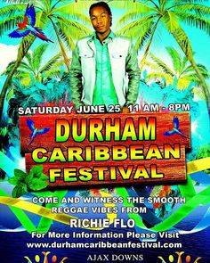 See @realRichieflo performing for the first time at @durhamcaribbeanfestival2016 along with other great musical talents. Saturday, June 25, 2016 at Ajax Downs, 50 Alexander's Crossing, Ajax, ON L1Z 2E6. Come out and have fun with the entire family. See you there!!! #1love #reggae #Caribbean #durhamcaribbeanfestival #summer #2016 #Adyktve #richieFlo #festival