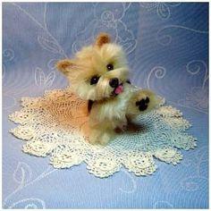 Needle felted dog Custom Norwich Terrier  by DreamwoodArtDesigns, $149.00