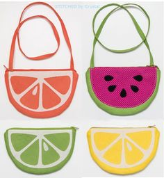 DIY: fruit slice purses and pouches
