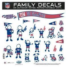 "New York Giants 11""""x11"""" Family Car Decal Sheet Z157-5460313592"