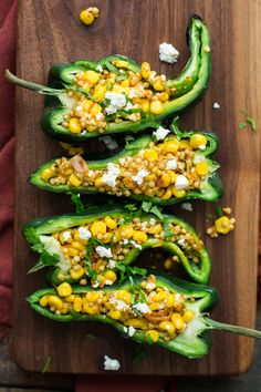 Quick, simply Sweet Corn Sorghum Stuffed Peppers |from @naturallyella