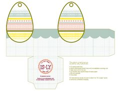 Easter Box Printable Layout