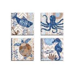 <li>Title: Barrier Reef Fish <li><li>Artist: Jennifer Brinley </li><li>Product type: Framed canvas wall art</li>