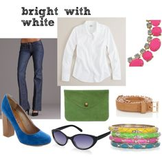 not sure about the neon trend, but i love the idea of pairing it with crisp white