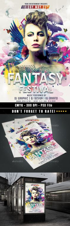 Fantasy Festival Flyer by HDesign85 | GraphicRiver