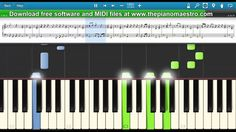 Justin Timberlake  - Cry Me A River  - piano lesson piano tutorial
