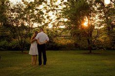 Golden Hour Wedding Photos | Woodlawn Manor, Maryland Wedding | Ashley Goverman Photography