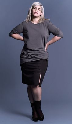 UNIVERSAL STANDARD - Sizes 10-28 - Genevette Gathered Crew - www.universalstandard.net - Plus Size Inclusive - 6