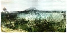 Janet Botes | Entangled (2020) - digital landscape art available for sale | StateoftheART Digital Collage, Digital Art, Green Office, Office Art, Fine Art Paper, Home Art, Monochrome, Art Prints, Landscape
