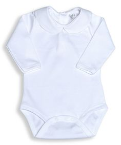 Another great find on #zulily! White Pima Peter Pan Collar Bodysuit - Infant by Pima & Me #zulilyfinds