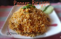 Chinu's Kitchen Corner: Paneer Biriyani