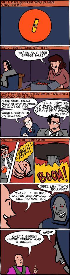 Evil plot to kill Batman using physics...genius!