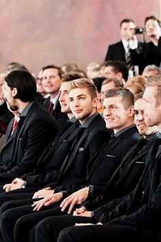 Die Mannschaft Movie Premiere- christoph kramer and Toni Kroos looks like they're getting an award in highschool