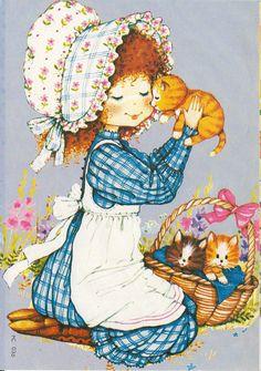 Sarah Kay, Painted Rock Animals, Painted Rocks, Crazy Cat Lady, Crazy Cats, Vintage Art, Vintage Photos, Pet Rocks, Holly Hobbie
