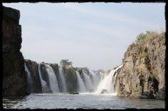 The most beautiful and very famous Hogennakal Waterfalls near Tamil Nadu-Karnataka Border. Tropical Beaches, South India, Karnataka, India Travel, Incredible India, Niagara Falls, Most Beautiful, The Incredibles, Adventure