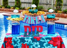 GreyGrey Designs: Take A Dip Summer Pool Party with Kraft Dips @kraftfoods #dipyourway #ad #poolparty