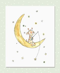 starfishing giraffe by Kit Chase ***must.stop.finding.such.adorable.illustrations!