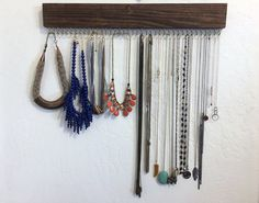 Necklace Organizer / Jewelry Organizer / Closet Organization / Jewelry Display by JMKPracticalDesigns on Etsy