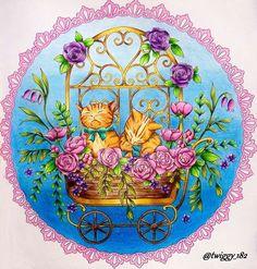 Menuet de Bonheur  by: @kanokoegusa  FC Polychromos #menuetdebonheur #rhapsodyinforest #egusakanoko #japanesecoloringbook #adultcoloringbook #coloringbook #coloringforadults #coloringforgrownups #polychromos #fabercastell #kolorowaniedladorosłych #kochamkolorować #kolorowamafia
