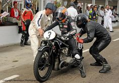 1929 BMW R63 hand shift - races at Goodwood by Maria Costello MBE & Claus Clausen. Owned by Paul Schwab. 2014.