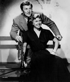 "Doris Day and Kirk Douglas, promotion for ""Young Man With A Horn,"" 1949."