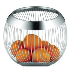 Look for a perfect gift idea for Table Top: Fruit Basket Bowl Matt Round Stainless steel by WMF Living Lounge Brand. Stunning Loop design for Home Deco as well Home Design Decor, Home Decor, Design Ideas, Interior Design, Wmf, Cool Kitchen Gadgets, Functional Kitchen, Lounges, Kitchen And Bath
