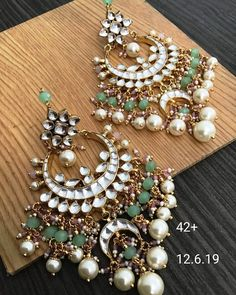 To Order Please Message or WhatsApp at Accesories - Accesories jewelry - Accesories ba Indian Jewelry Earrings, Indian Jewelry Sets, Jewelry Design Earrings, Indian Wedding Jewelry, Silver Earrings, Jewelery, Indian Bridal, Silver Jewelry, Pearl Earrings