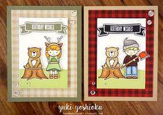 Birthday Wishes Card Set by handmade by Yuki   Lumberjack Love by Neat & Tangled