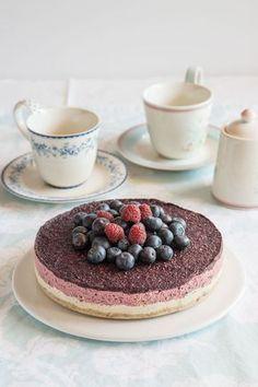 Cheesecake vegano y sin horno de arandanos, con anacardos al estilo crudivegano Cocktail Cake, Vegetarian Recipes, Healthy Recipes, Vegan Cheesecake, Sin Gluten, Gluten Free, Vegan Life, How To Make Cake, Food Hacks