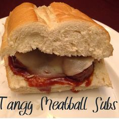 Love these easy to make meatball subs. You can make them in your crockpot, so yummy.