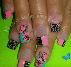 Nail Art Designs Videos, Toe Nail Designs, Shellac Nails, Acrylic Nails, Gorgeous Nails, Pretty Nails, Mobile Nails, Butterfly Nail Art, Pedicure Nail Art