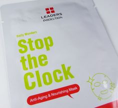 Review: Leaders Daily Wonders Stop the Clock Anti-Aging & Nourishing Sheet Mask (Available at Ulta)