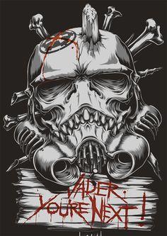 """The SkullTrooper"",Inspired by Star Wars : Stormtrooper by Charles AP, via Behance"